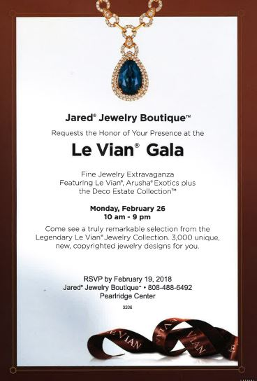 Le Vian Gala Aiea HI Pearlridge Center